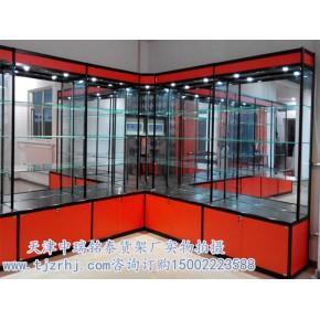 拆装钛合金货架玻璃展示柜精品钛合金展柜天津展柜