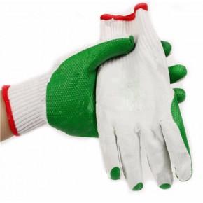 绿胶片手套 耐磨胶片防护手套