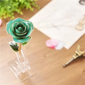 黛雅镀金真玫瑰 天然鲜花材质工艺品 源头厂家批发