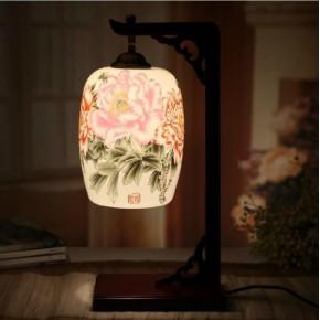 供应复古陶瓷简约田园灯具饰床头台灯书房创意时尚