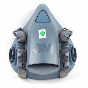3M 7502 硅胶半面型防护面罩中号工业防尘