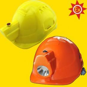 带头灯安全帽,一体式强光充电头盔帽灯,矿帽灯