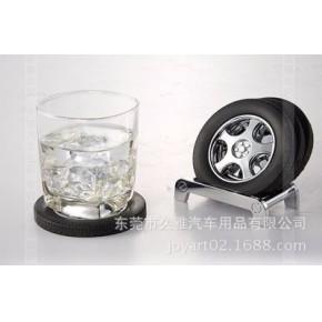 厂家直销创意餐垫 定制多功能圆形隔热轮胎杯垫