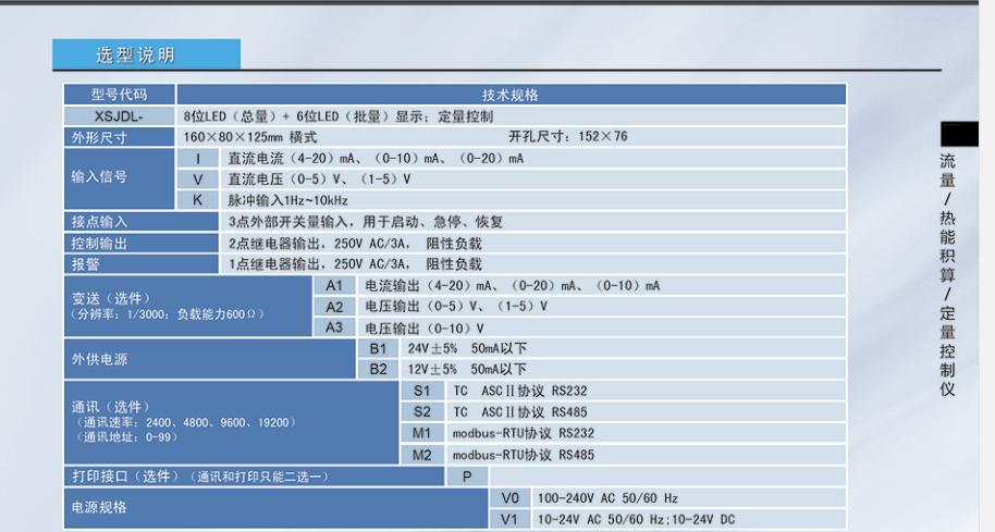 供应昆仑XSJDL定量控制仪表