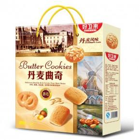 好卫来沙琪玛礼盒装728g漯河饼干小礼盒