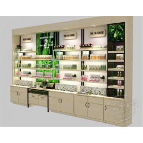 木质化妆品展柜 化妆品柜台 广州宜佳展柜
