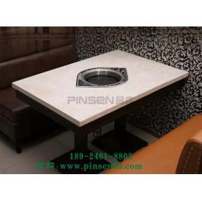 厂家大理石火锅餐厅电磁炉灶柜式火锅桌椅