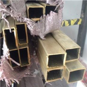 装饰黄铜方管50x50mm 圆角H62黄铜管