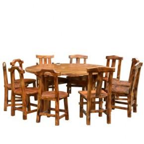 火锅店实木桌椅,烧烤店实木家具