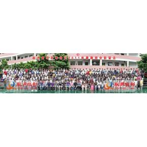 广州500人公司活动合影、集体合影摄影,合影台阶