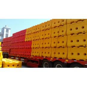 厂家专业生产三孔水马滚塑超重水马隔离墩价格最低