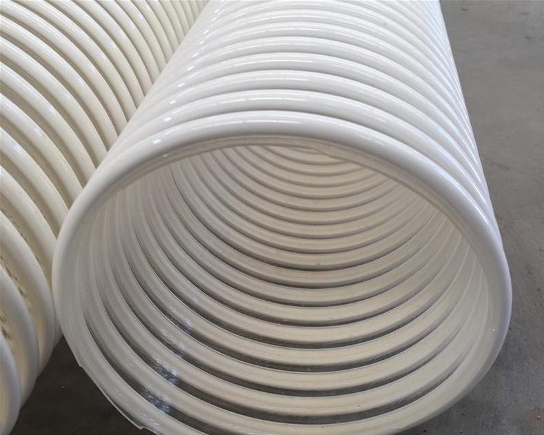 大口径塑筋波纹管阻燃防静电加强管抛丸机吸粮机管