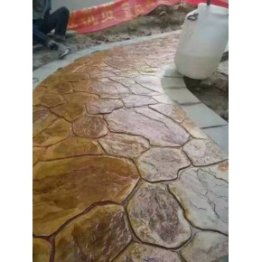 誉臻彩色压花艺术造型地坪 一体成型