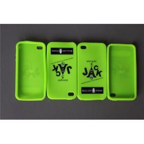 简约单色印刷苹果5手机保护套硅胶套