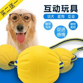 訓犬耐咬繩球,馬犬,工作犬,狗狗玩具耐咬可浮水