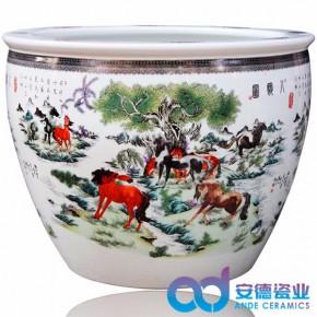 景德镇陶瓷缸批发定制礼品陶瓷缸
