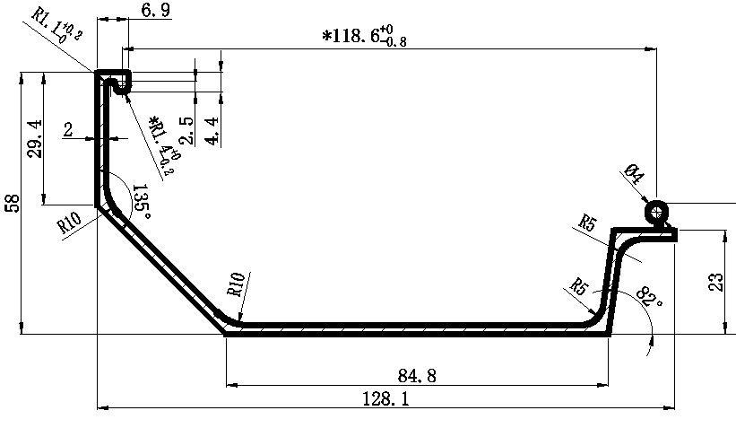 机械设备铝合金线槽盖板