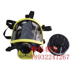 逃生专用全面罩防毒面具 双滤盒柱形全面罩防毒面具