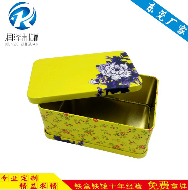 圆形小铁盒茶叶铁盒马可铁盒润泽制罐花纹铁盒