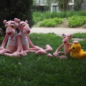 毛绒玩具顽皮粉红豹公仔