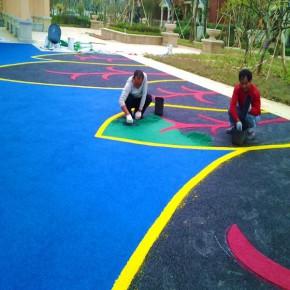 惠州EPDM塑胶地面施工 幼儿园彩色地板铺设