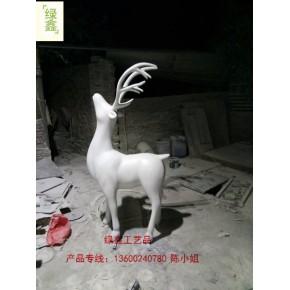 东莞绿鑫支持定制圣诞节玻璃钢雕塑摆件圣诞老人雕塑
