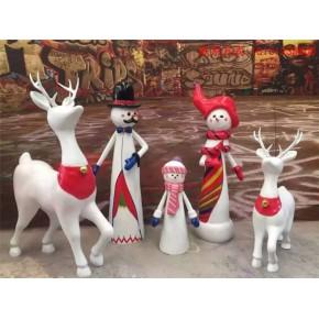 圣诞小鹿卡通商场节庆装饰摆件卡通动物定做报价