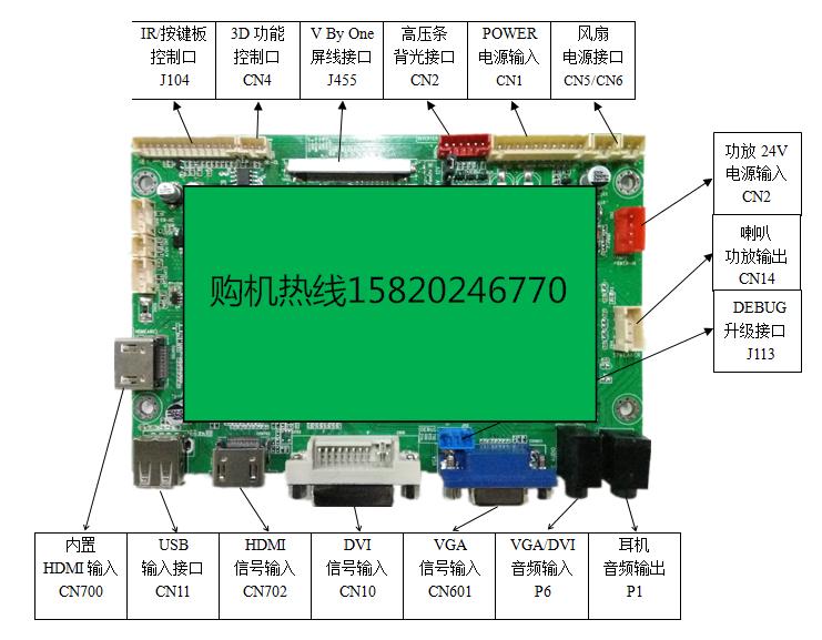 广告机驱动板卡BSD-K9-UHD