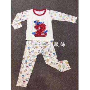广州呗呗熊品牌波姆熊家居服保暖内衣小中大童品牌