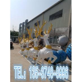 东莞昌盛玻璃钢圣诞鹿雕塑摆件制作厂家