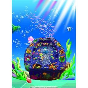 玻璃钢钓鱼池  海洋主题深海鱼池 带音乐水循环