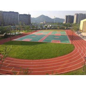 塑胶跑道小区幼儿园公园EPDM场地操场塑胶跑道