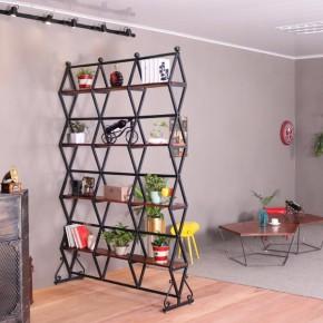 简约铁艺现代客厅屏风隔断个性创意置物架