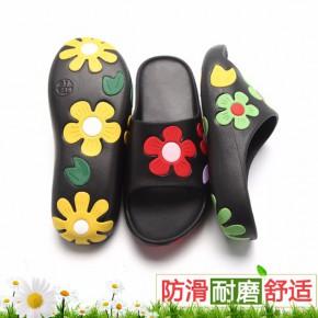 花朵凉鞋女夏季一字型外贸拖鞋EVA沙滩居家凉拖