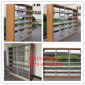 图书馆双面书架厂家 木护板单面双面书架定制