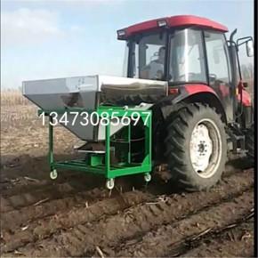 翔洲新型撒肥机 拖拉机背负式洒肥器 圆桶撒肥机