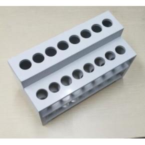 试管架,耐酸碱合成塑料制作,带水槽,可冷却