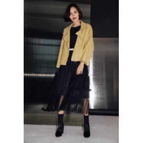 MYC皮衣2018春货源品牌折扣批发