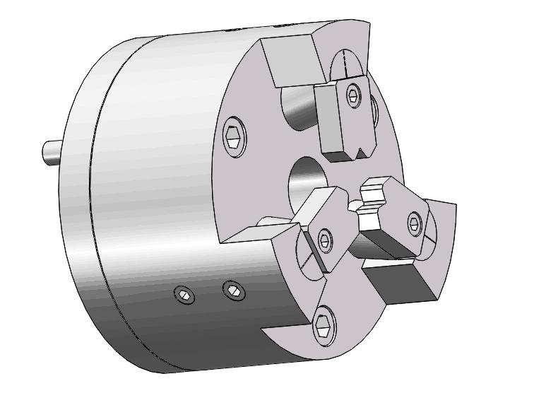 供应铆接用复合六爪卡盘中空液压卡盘