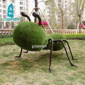 度帆草皮蚂蚁雕塑 户外园林动物雕塑 仿真草雕塑