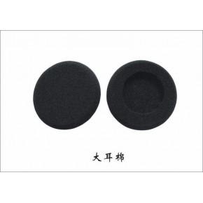 直销电子耳机PU海绵耳机耳套话筒爆破加黑开孔海绵