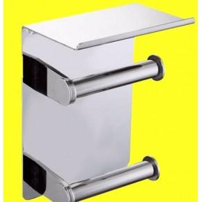 平板纸巾架304不锈钢双卷空心小纸 壁挂式厕纸盒