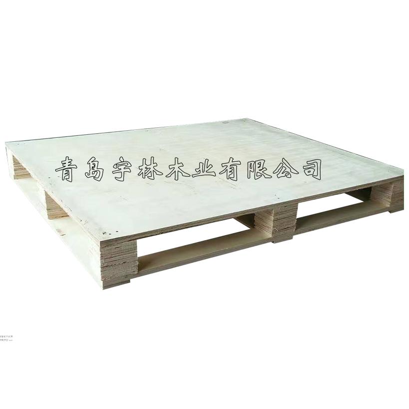 黄岛胶合板木托盘四面进叉专业的木质托盘