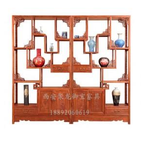 西安中式博古架尺寸、红木博古架、实木博古架批发